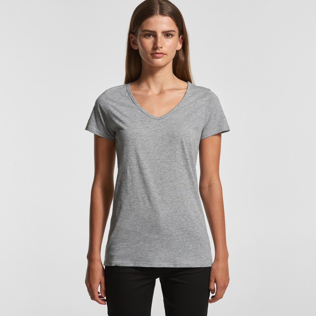 4010 BEVEL V-NECK TEE image 0