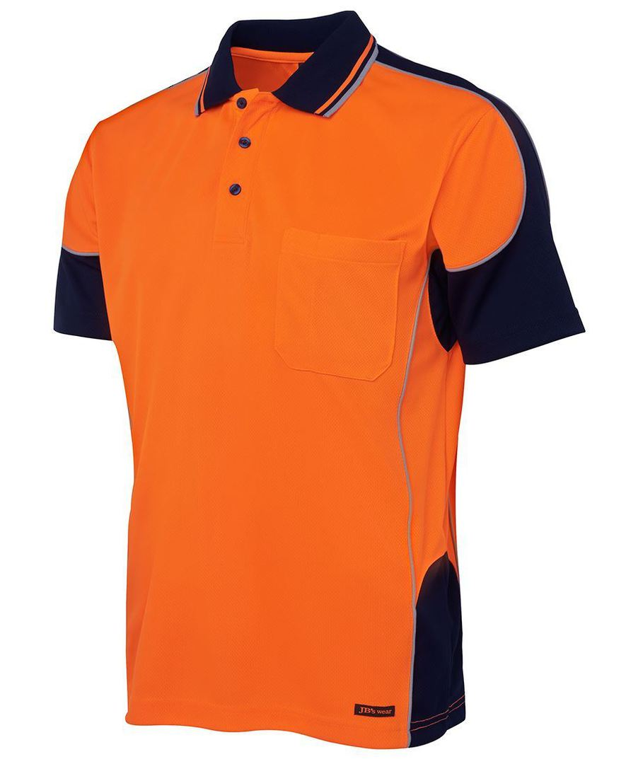6HCP4 Hi Vis Contrast Piping Polo image 2