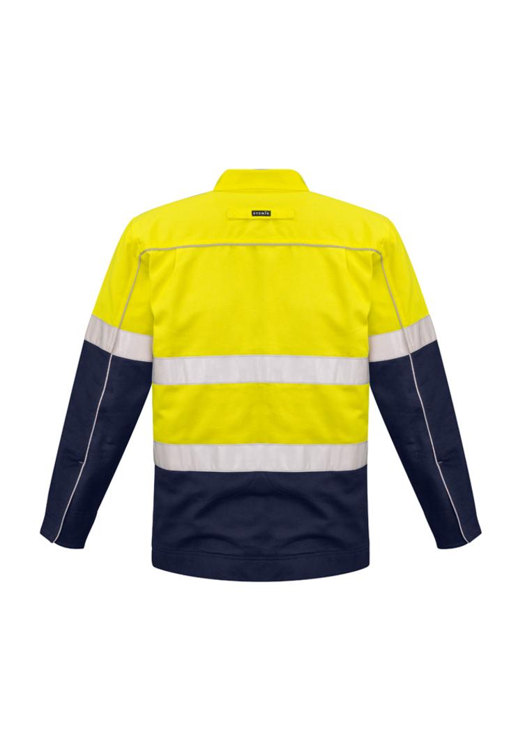 ZJ590 Mens Hi Vis Cotton Drill Jacket image 3