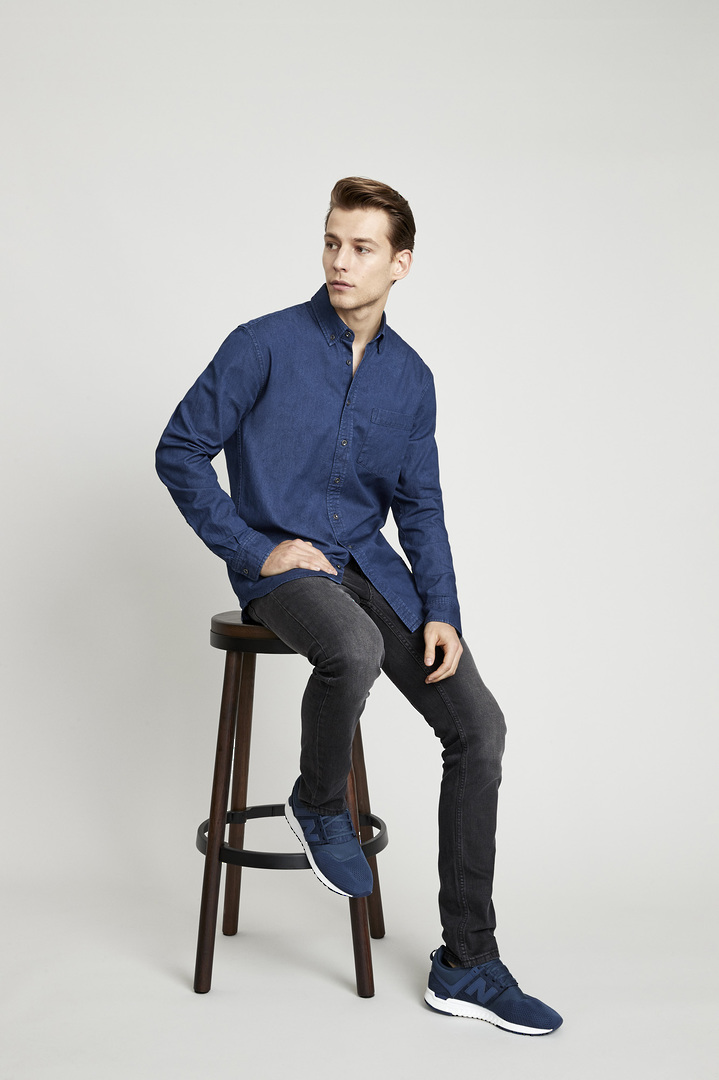 INDIE MENS LONG SLEEVE SHIRT image 1