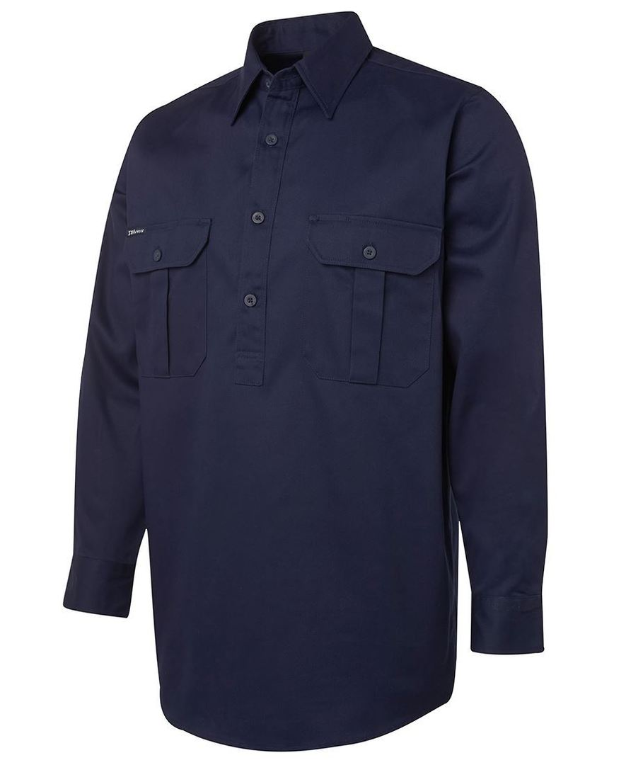 6WSCF L/S 190G Close Front Work Shirt image 1