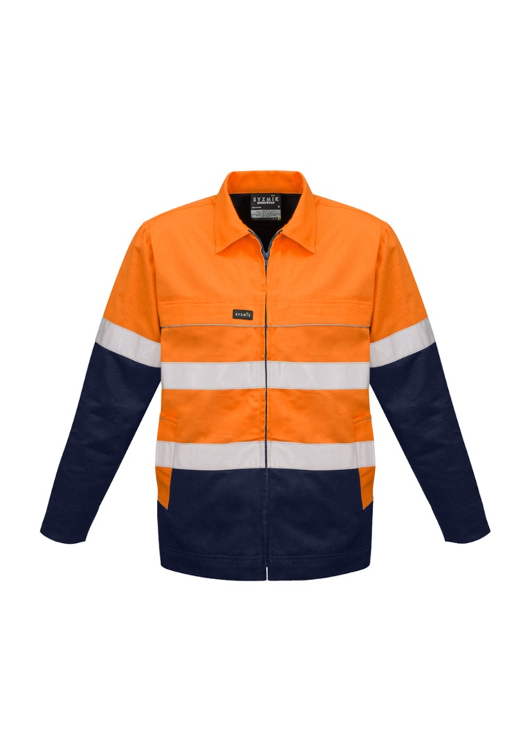 ZJ590 Mens Hi Vis Cotton Drill Jacket image 0
