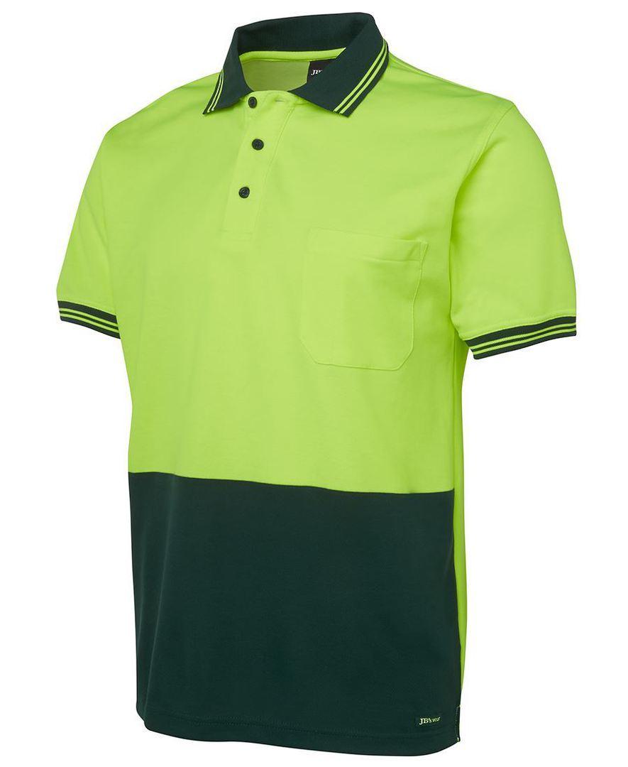 6HPS Hi Vis S/S Cotton Back Polo image 1