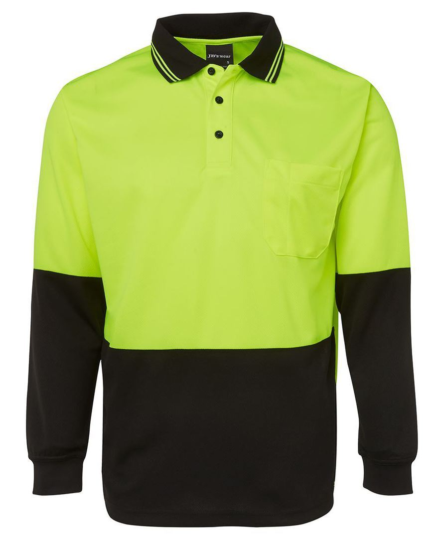 6HVPL Hi Vis L/S Traditional Polo image 0