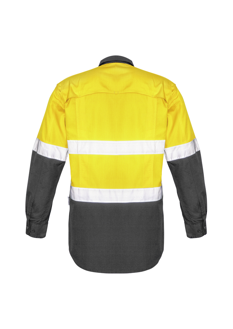 ZW129 Mens Rugged Cooling Taped Hi Vis Spliced Shirt image 1