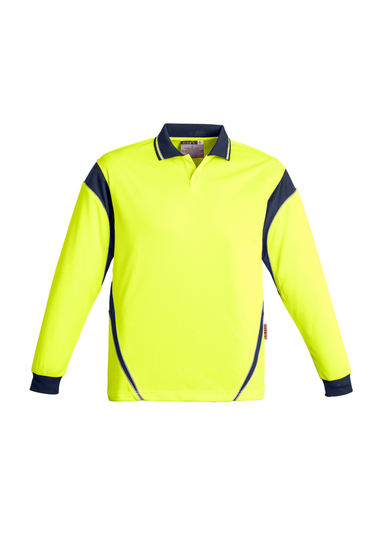 ZH249 Mens Hi Vis Aztec Polo - Long Sleeve image 7