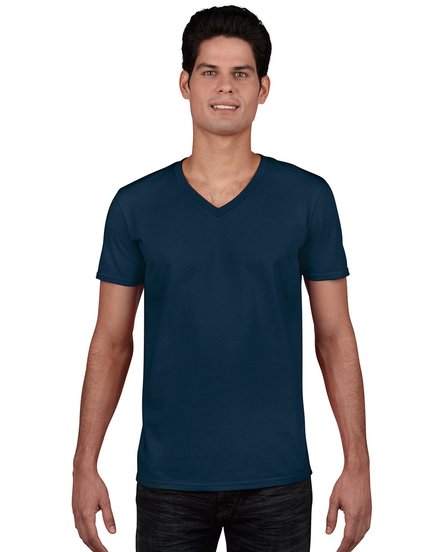 Softstyle® Euro Fit Adult V-Neck T-Shirt image 2