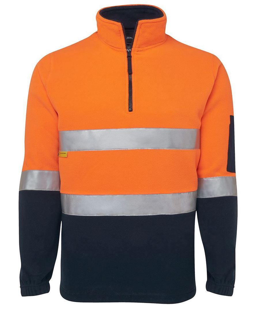 6DNPF Hi Vis (D+N) 1/2 Zip Polar Fleece image 1