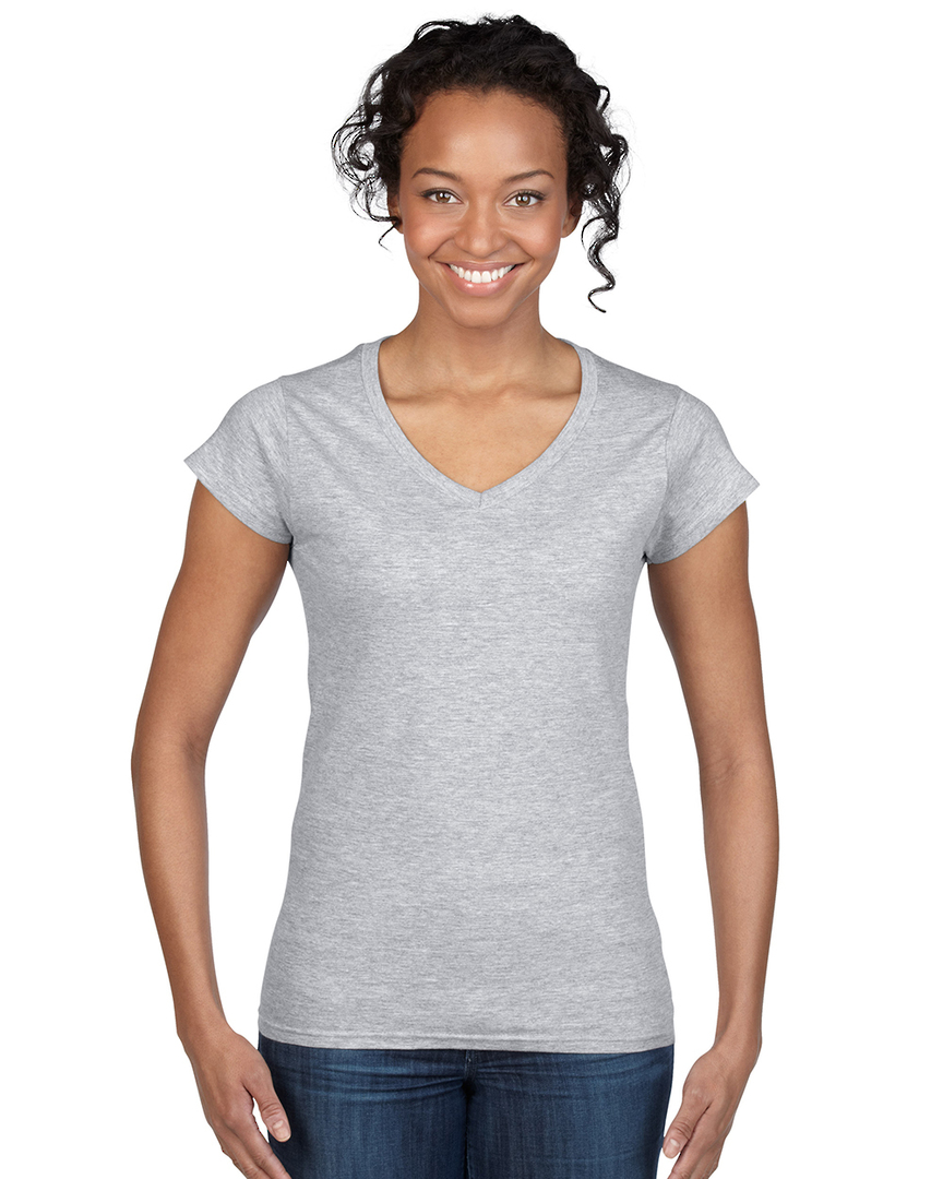 Softstyle® Fitted Ladies' V-Neck T-Shirt image 8