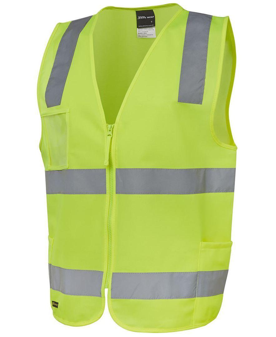 6DNSZ Hi Vis (D+N) Zip Safety Vest image 1