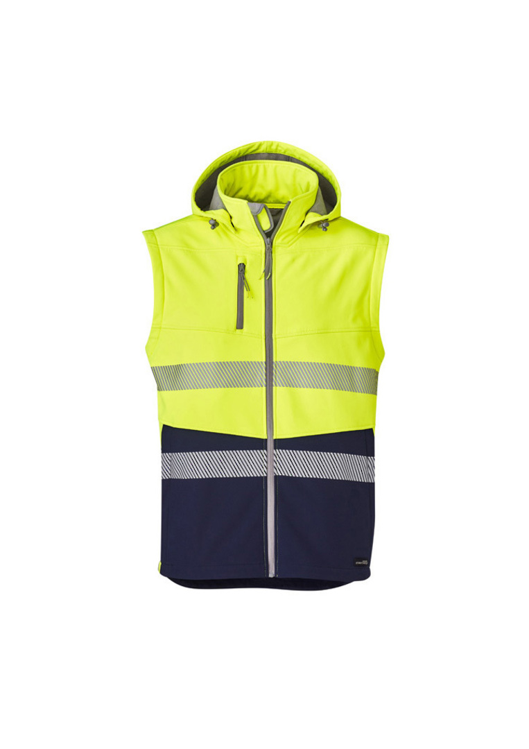 UNISEX 2 IN 1 STRETCH SOFTSHELL TAPED JACKET image 8