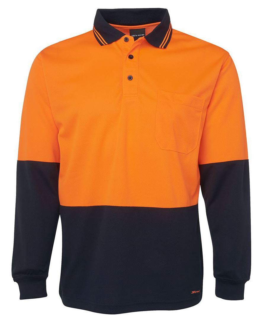6HVPL Hi Vis L/S Traditional Polo image 8
