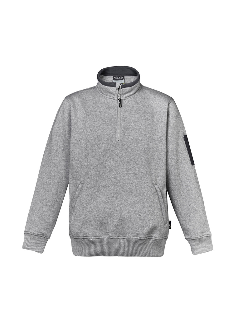 MENS 1/4 ZIP BRUSHED FLEECE image 4