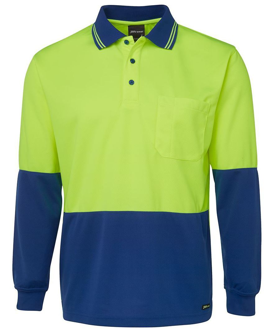 6HVPL Hi Vis L/S Traditional Polo image 6