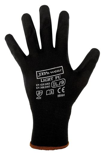 BLACK LIGHT PU BREATHABLE GLOVE (12 PACK) 8R004 LIGHT PU GLOVE image 0