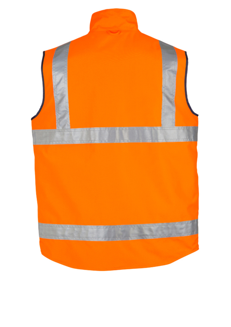 ZV358 Mens Hi Vis Lightweight Fleece Lined Vest image 0