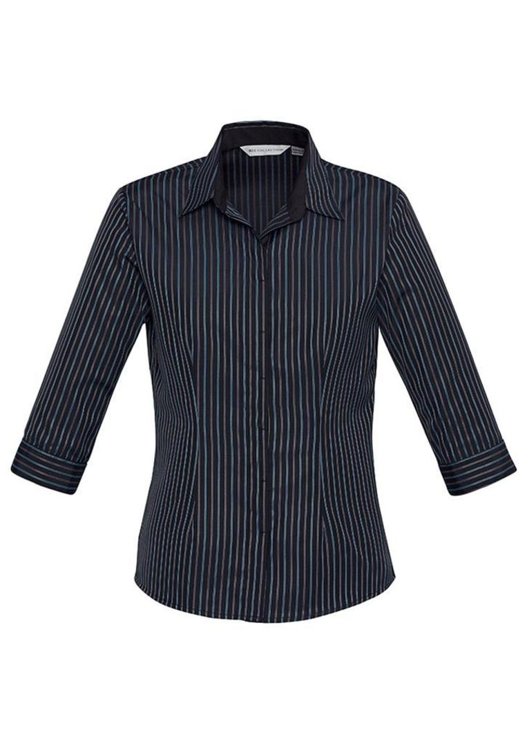 Ladies Reno Stripe 3/4 Sleeve Shirt image 3