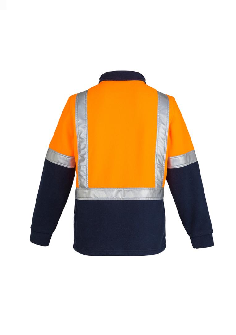 ZT462 Mens Hi Vis Fleece Jumper - Shoulder Taped image 1