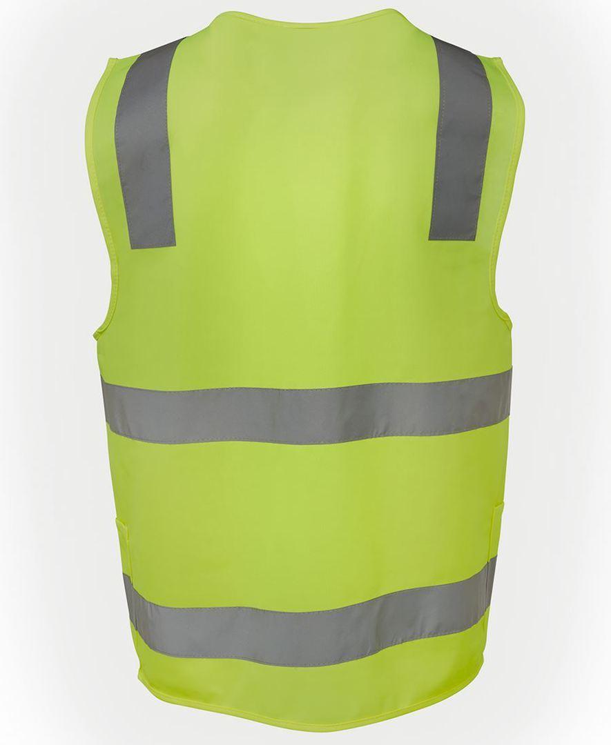 6DNSZ Hi Vis (D+N) Zip Safety Vest image 2