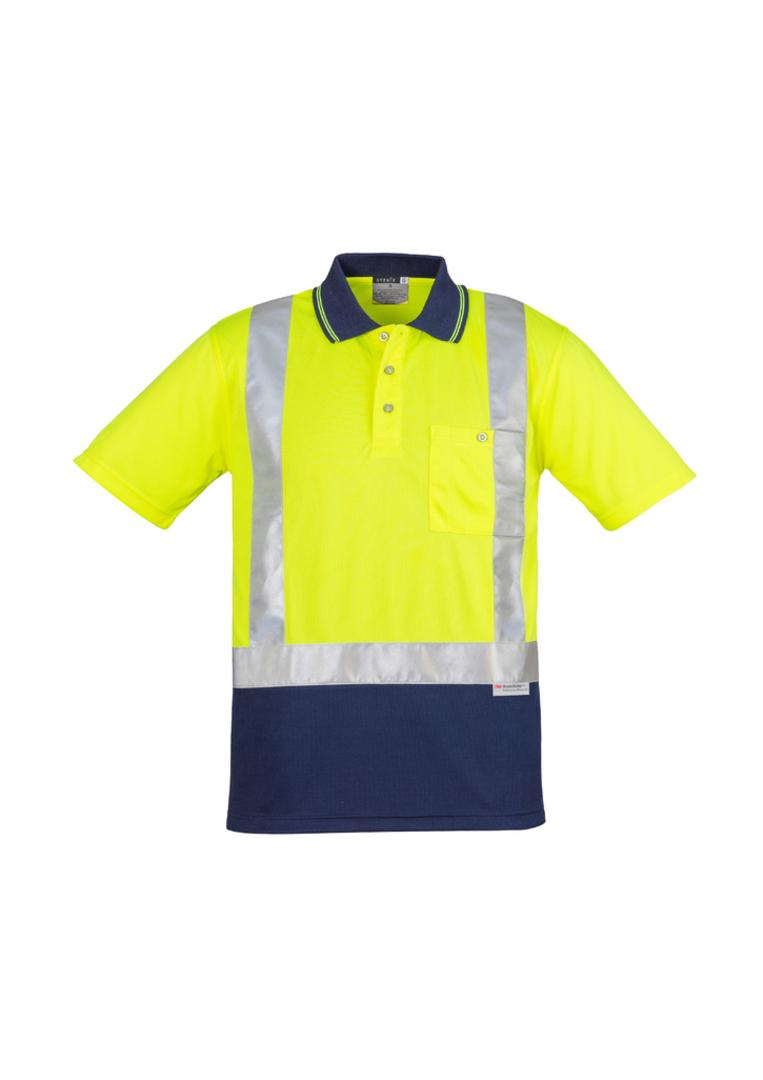 ZH233 Mens Hi Vis Spliced Polo - Short Sleeve image 3