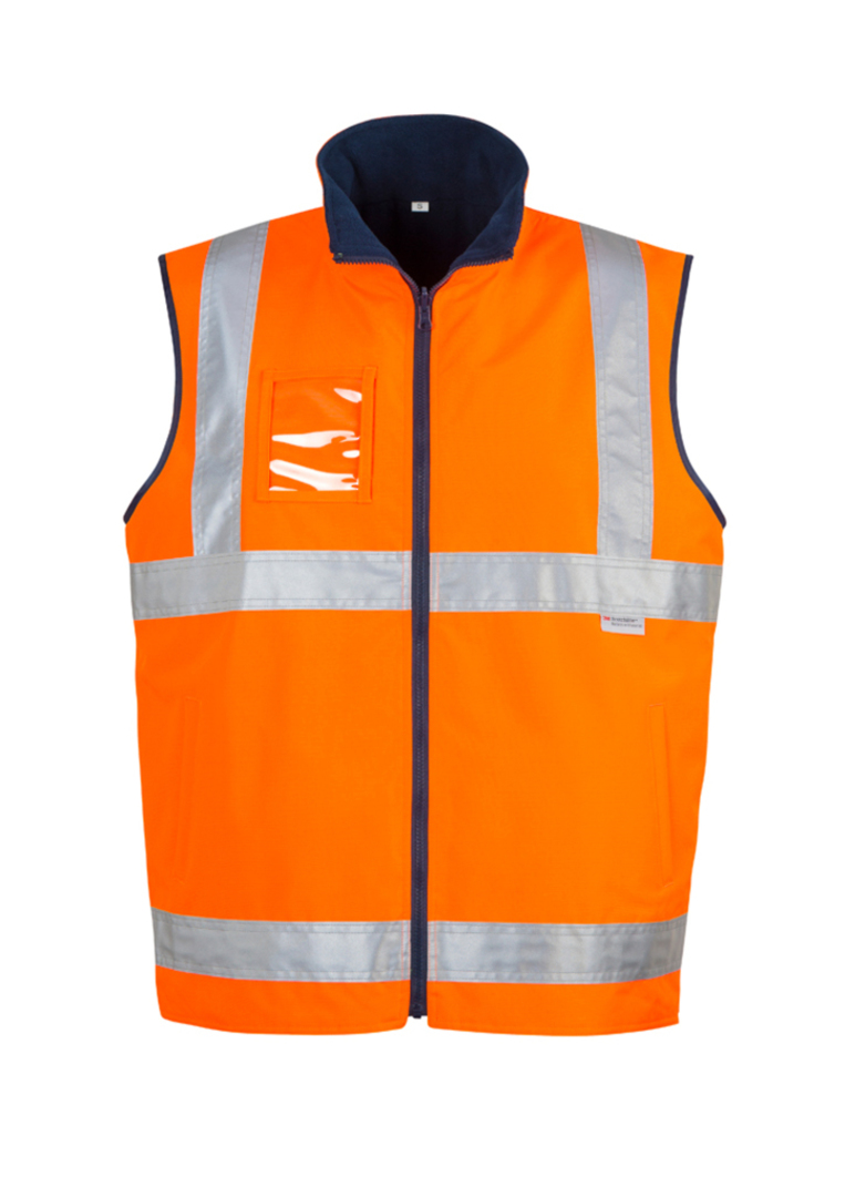 ZV358 Mens Hi Vis Lightweight Fleece Lined Vest image 1