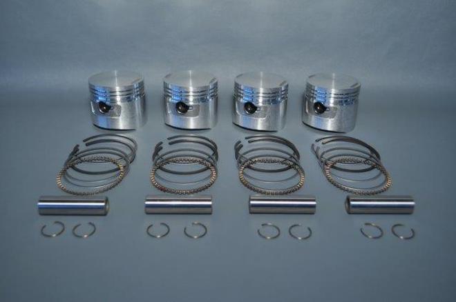 MRS-E129-1 CB750 Piston Kit 1mm O/S image 0