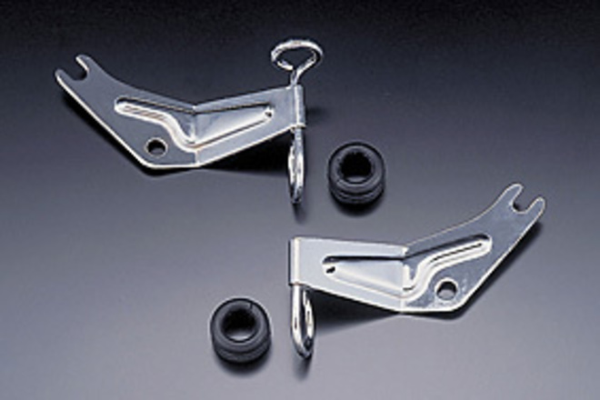 81-3051 Brake Hose Bracket R/H Chrome image 0
