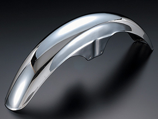 81-1381 Front Fender Chrome image 0