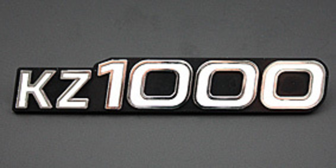 81-1219 Z1000 Side Cover Emblem image 0