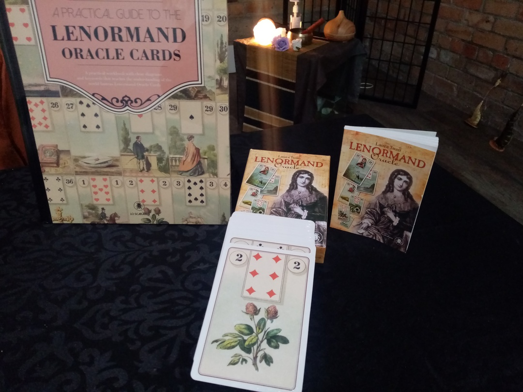Lenormand Oracle bundle (card deck and book) image 0