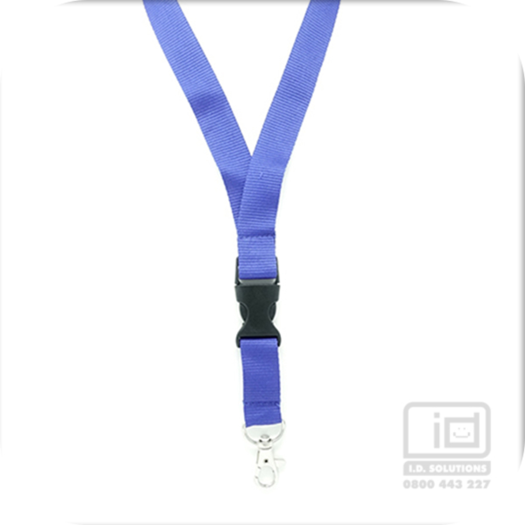 Royal Blue Flat Lan with Quick Release Buckle C-Hook - 20mm wide image 0