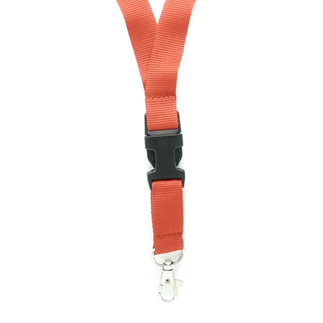 Red Flat Lan with Quick Release Buckle C-Hook - 20mm wide image 1