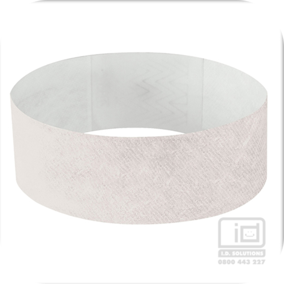 25mm Tyvek Wristband White image 0