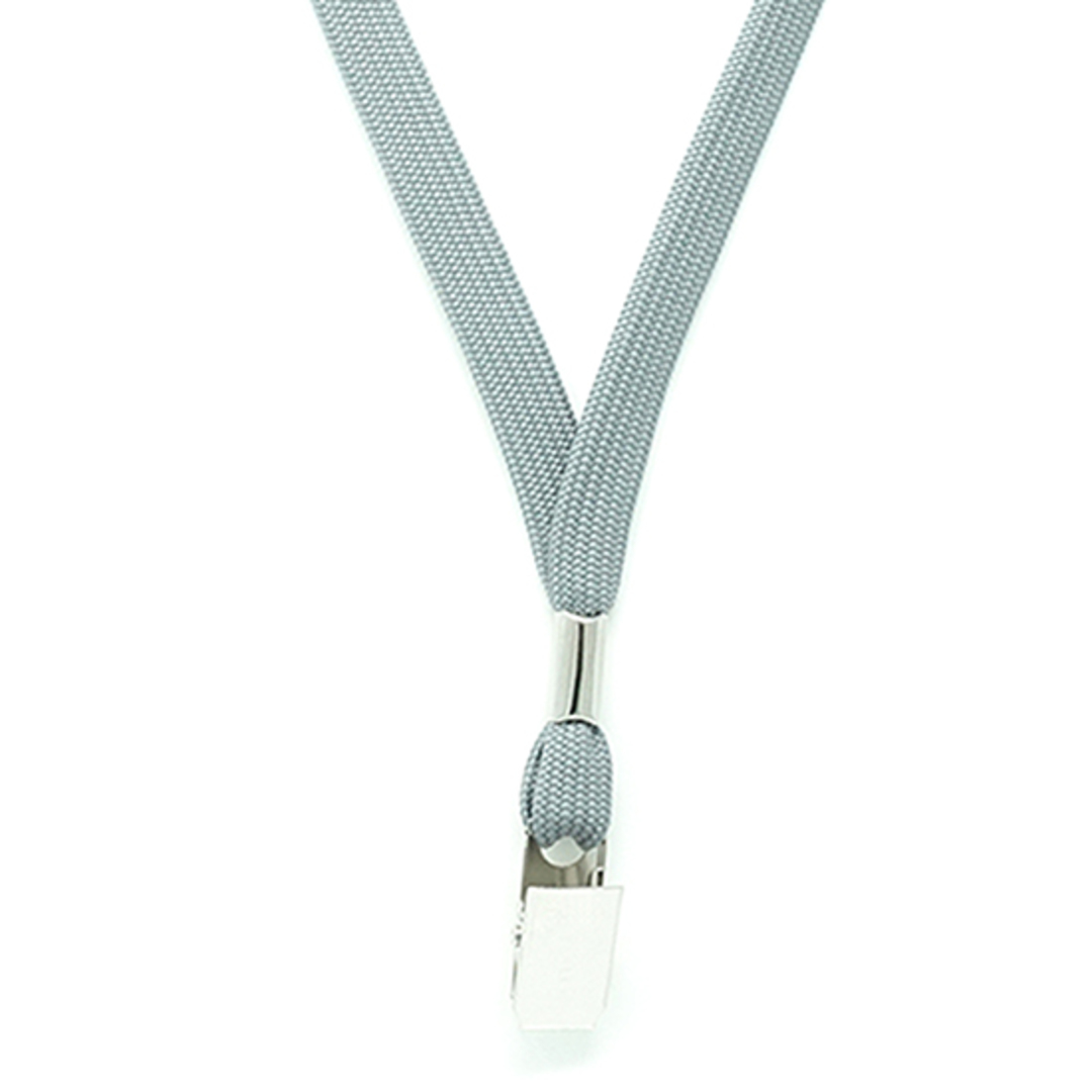 Grey Tube Lan with Bulldog Clip - 12mm wide image 1