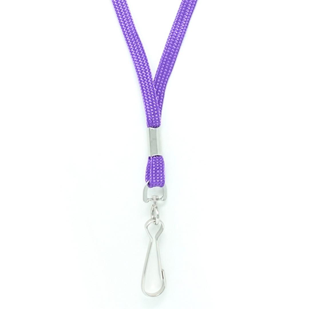 Purple Tube Lan with Swivel Hook - 8mm wide image 1