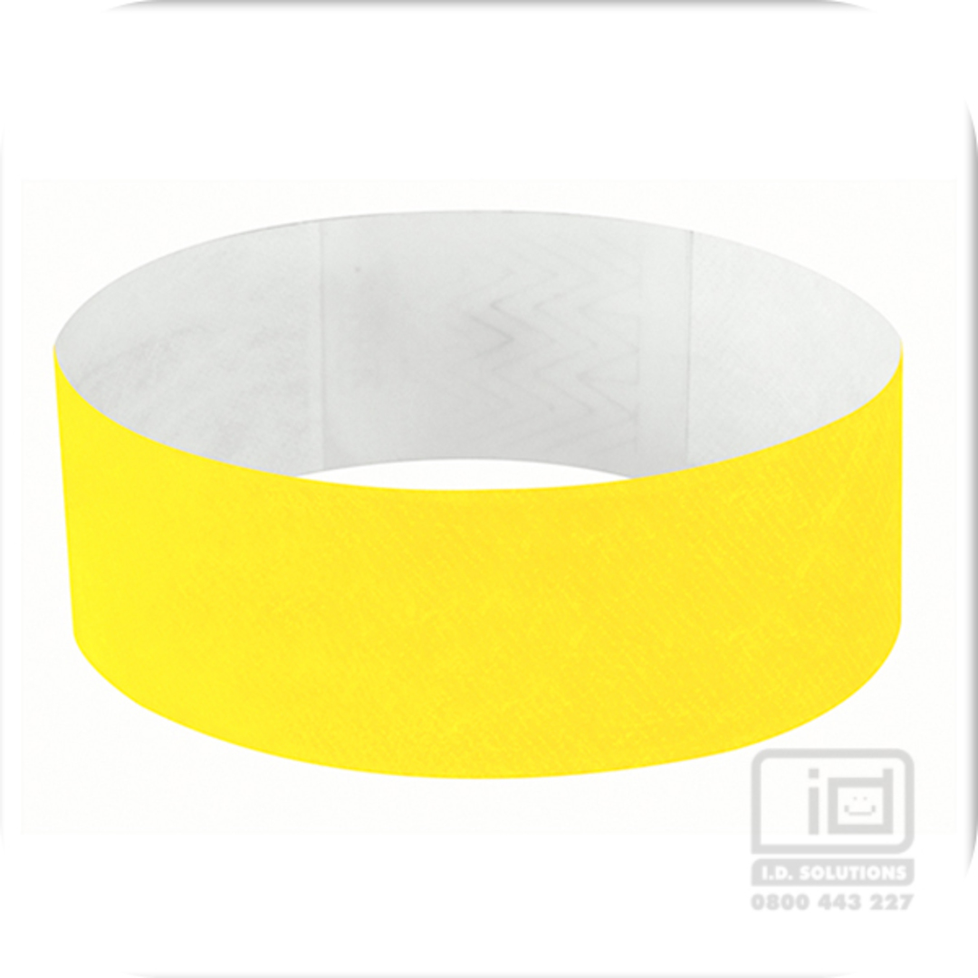 25mm Tyvek Wristband Yellow Glow image 0