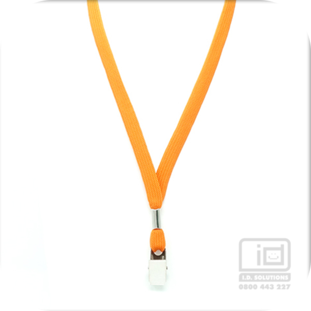 Orange Tube Lan with Bulldog Clip - 12mm wide image 0