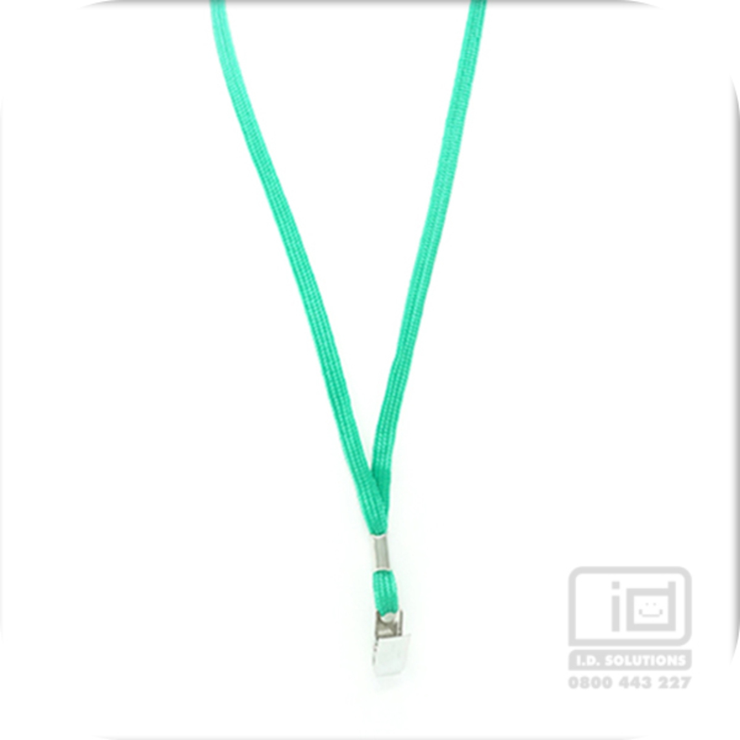 Kelly Green Tube Lan with Bulldog Clip - 8mm wide image 0