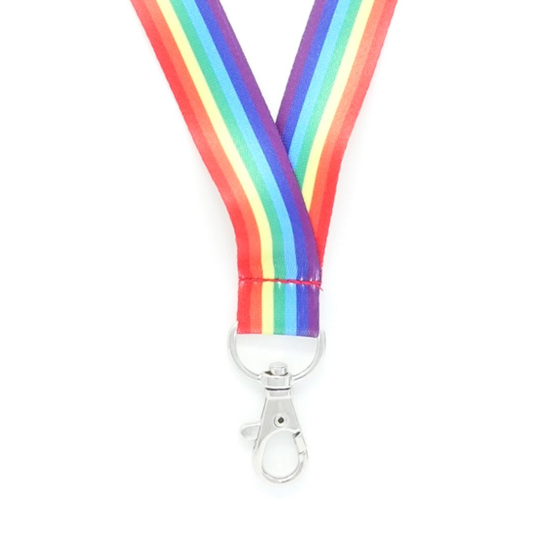 Rainbow lanyard image 1