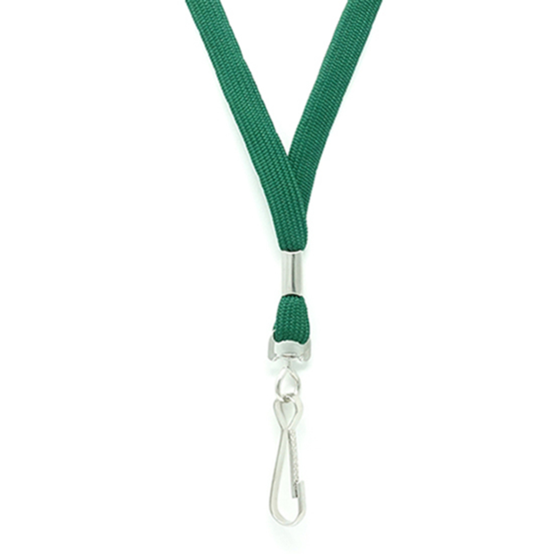 Green Tube Lan with Swivel Hook - 12mm wide image 1