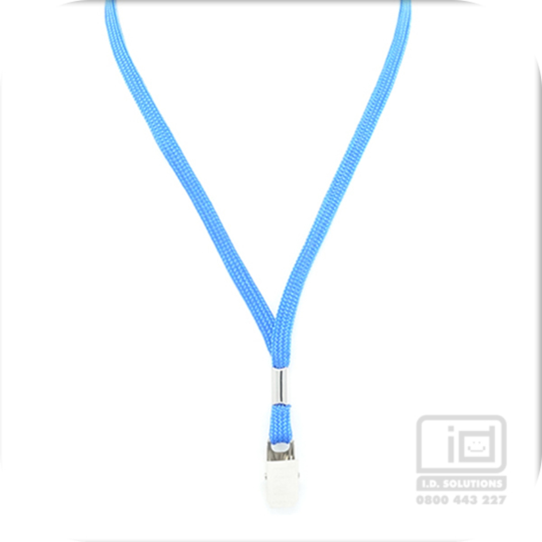 Royal Blue Tube Lan with Bulldog Clip - 8mm wide image 0
