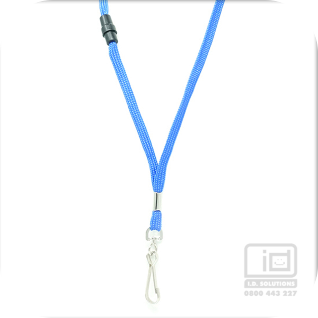 Royal Blue Tube Lan with BRKWY Swivel Hook - 8mm wide image 0