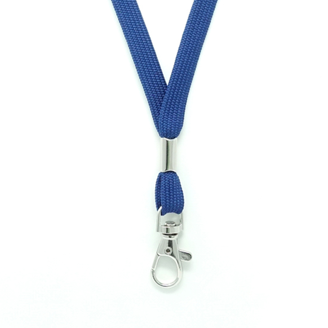 Navy Blue Tube Lan with C-Hook - 12mm wide image 1