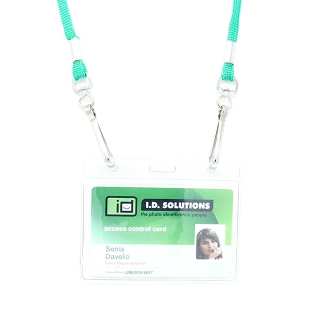 Kelly Green Tube Lan with 2 Swivel Hooks - 8mm wide image 1