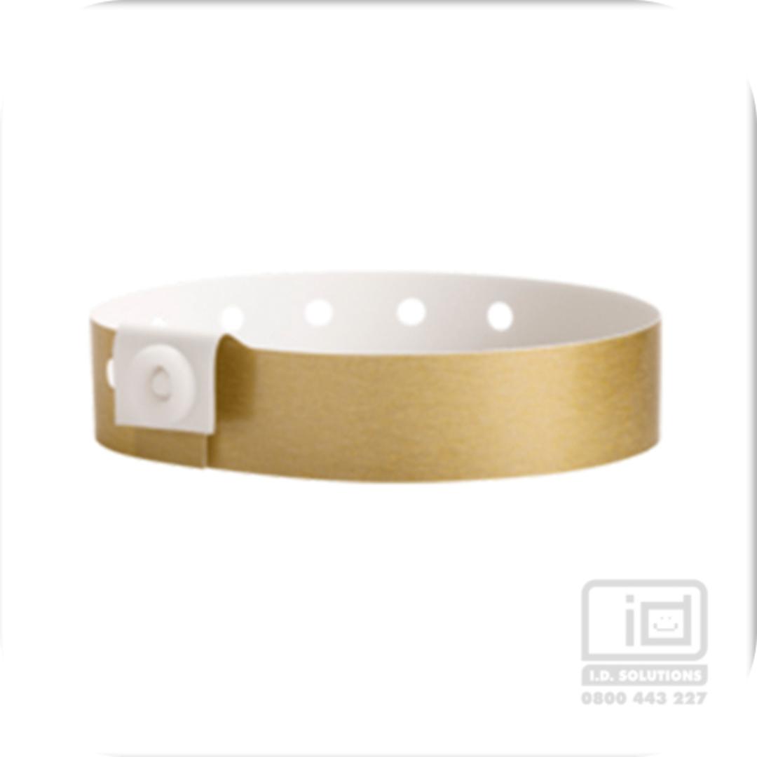 Soft Comfort Wristbands Gold image 0