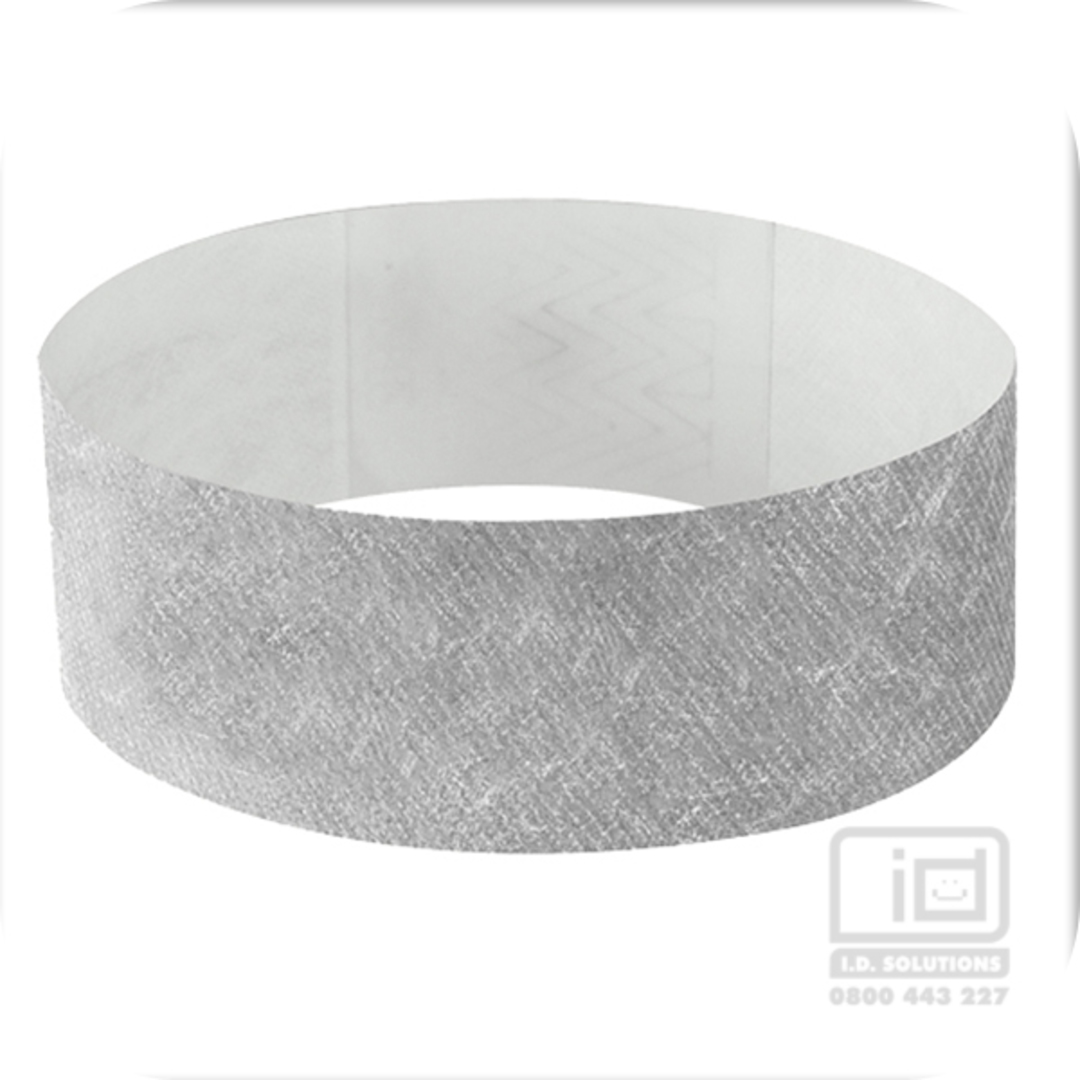 25mm Tyvek wristband Silver image 0