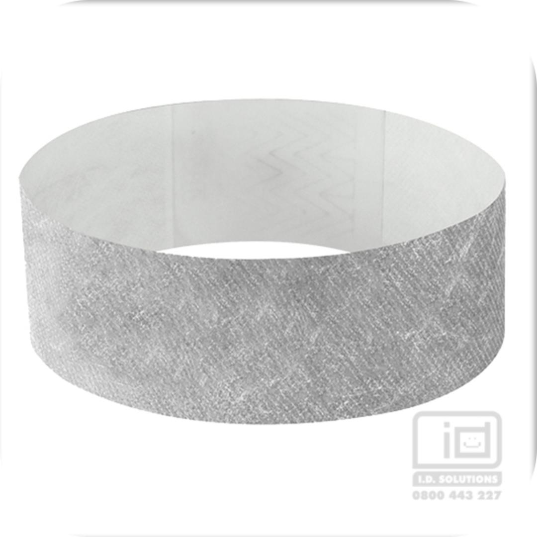 25mm Tyvek Wristband Silver image 0