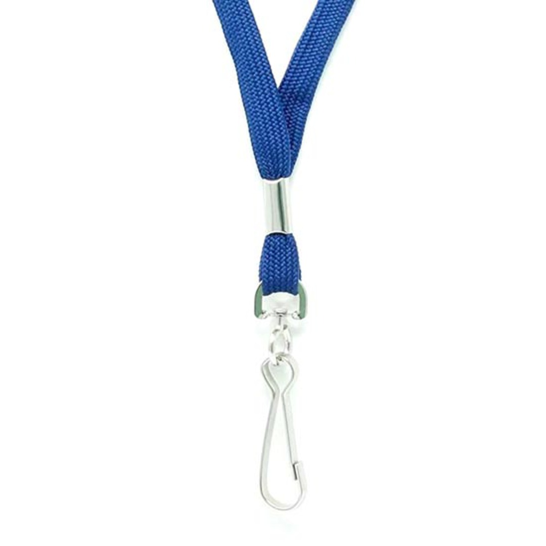 Navy Blue Tube Lan with Swivel Hook - 12mm wide image 1