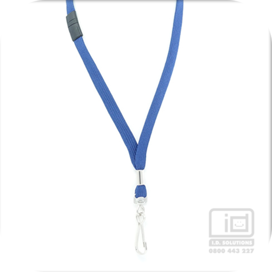 Navy Blue Tube Lan with BRKWY Swivel Hook - 12mm wide image 0