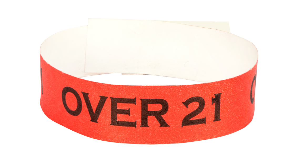 Tyvek, Black Over Print Wristbands, 25mm image 2